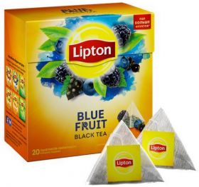 Lipton  blue fruit 20 пирамидок